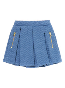 Girls Denim Pleated Skirt (3 - 12 Years)