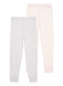 2 Pack Pointelle Thermal Bottoms (2-12 years)