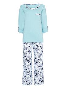 Floral Three-Quarter Length Pyjamas