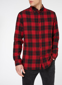 Black & Red Tartan Check Shirt