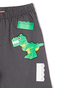 Grey Lego Dinosaur Print Pyjamas (3-12 years)
