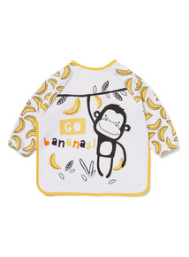 White Monkey Long Sleeve Bib
