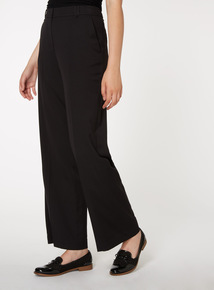 PETITE Black Wide Leg Trousers