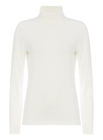 Cream Roll Neck Top
