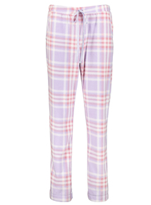 Lilac Check Fleece Pyjama Bottom