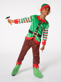 Green Christmas Elf Costume (1-10 years)