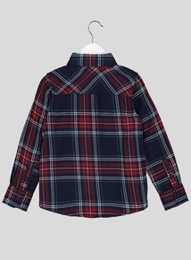 Multicoloured Checked Button Down Shirt (3-14 years)