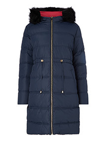 Navy Reversible Padded Coat