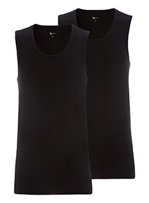 2 Pack Black Vests