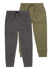 Picot Panel Joggers 2 Pack (3 - 14 years)