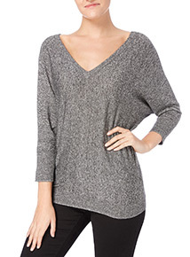 Grey V-front Jumper