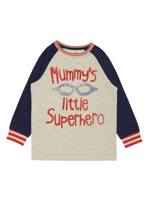 Boys Multicoloured Mummy's Little Superhero T-Shirt (9 months - 6 years)