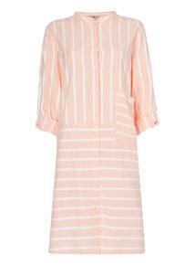 Coral Striped Nightshirt