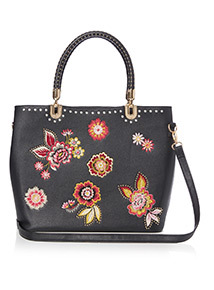 Premium Embroidered Studded Tote Bag