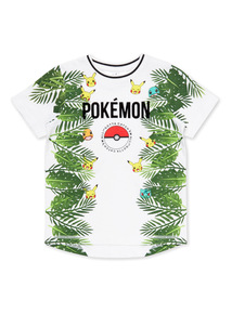 White Pokemon Print T-shirt (3-14 years)