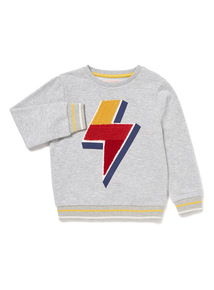 Grey Lightning Bolt Sweatshirt (9 months-6 years)