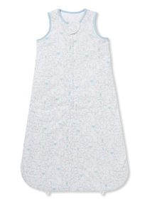 Blue Animal Print Sleeping Bag (0-24 months)