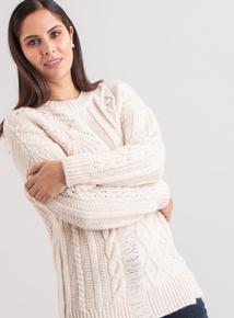 Premium Cream Cable Knit Jumper