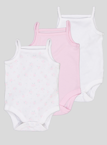 Multicoloured Strappy Bodysuits 3 Pack (Tiny Baby-36 months)