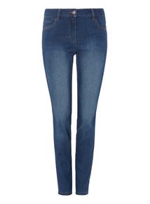 Navy Mid Wash Skinny Jeans