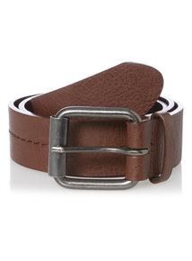 Brown Centre Stitch Belt