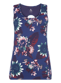 Multicoloured Bold Floral Print Active Vest