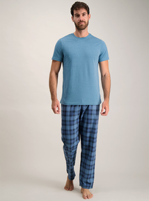 Teal & Navy Check Pyjamas