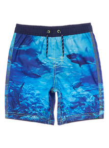 Multicoloured Shark Swim Shorts (3 - 12 years)