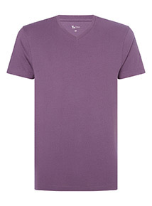 Purple V Neck T-Shirt