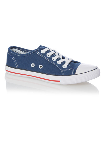 Boys Navy Canvas Trainers