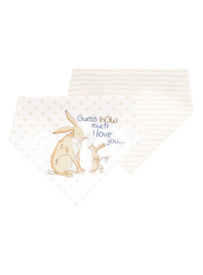 Baby Boys Oatmeal Guess How Much I Love You Hanky Bibs 0 24 Months