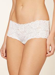 Swirl Lace Bandeau Brazilian Short