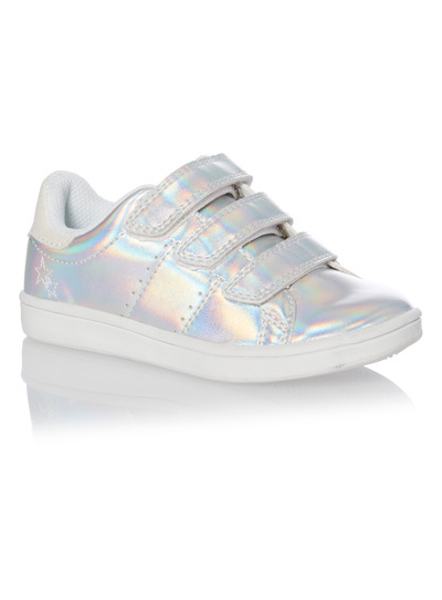 Girls Silver Cupsole Trainers