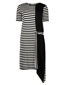 Monochrome Striped T-Shirt Dress