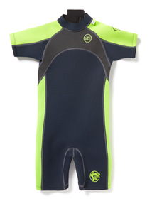 Unisex Navy and Green Short Wetsuit (2-13 years)