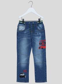 Blue Denim London Bus Jeans (1 - 6 years)
