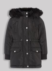 Black Parka Coat (3-14 years)