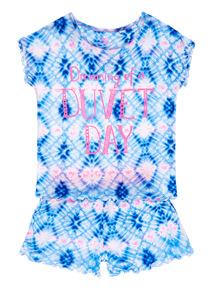Blue Tie Dye Duvet Day PJ Set (3 - 12 years)