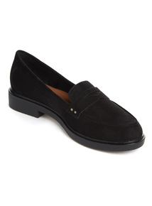Black 'Sole Comfort' Loafers