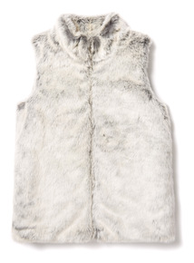 Grey Faux Fur Gilet (3-14 years)