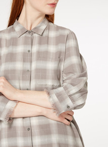 Grey Frayed Edge Shirt