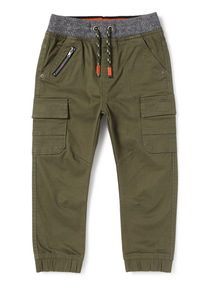 Khaki Rib Waist Trousers (9 months-6years)