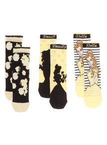Black Beauty And The Beast Socks 3 Pack