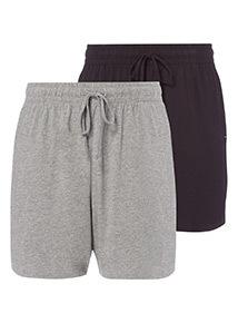 2 Pack Multicoloured Lounge Shorts