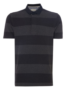 Black Block Stripe Rugby Top