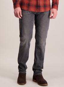 Grey Wash Slim Fit Denim Jeans