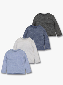 Multicoloured Long Sleeve Marl T-Shirts (0-24 months)