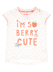White Berry Cute Tee (0 - 24 months)