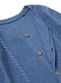 Blue Cable Knit Cardigan (Newborn- 12 months)