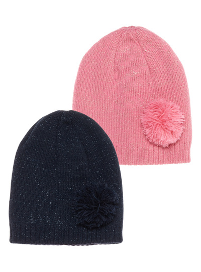2 Pack Glitter Beanie Hats (1-12 years)